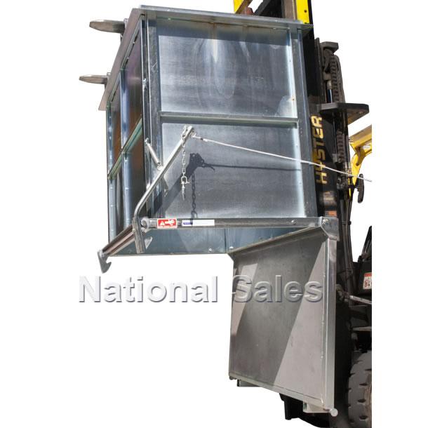 Handling Gear Drop Bottom Bin 1 5m3 Forklift And Crane