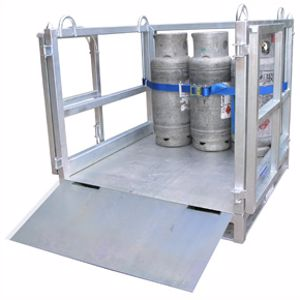Picture of Cage for Transporting Gas Cylinders with Ramp (Flat Packed)