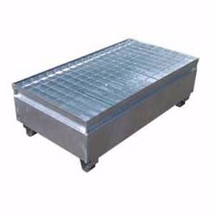 Picture of 2 Drum Bund - Galvanised Metal for 2 x 205 Litre